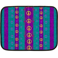 Peace Be With Us This Wonderful Year In True Love Fleece Blanket (mini) by pepitasart