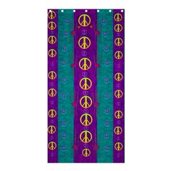 Peace Be With Us This Wonderful Year In True Love Shower Curtain 36  X 72  (stall)