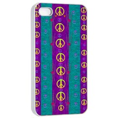 Peace Be With Us This Wonderful Year In True Love Apple Iphone 4/4s Seamless Case (white)