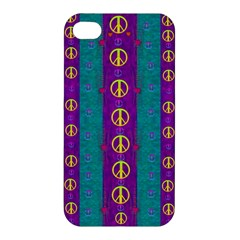 Peace Be With Us This Wonderful Year In True Love Apple Iphone 4/4s Premium Hardshell Case