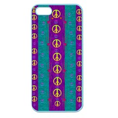 Peace Be With Us This Wonderful Year In True Love Apple Seamless Iphone 5 Case (color) by pepitasart