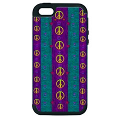 Peace Be With Us This Wonderful Year In True Love Apple Iphone 5 Hardshell Case (pc+silicone) by pepitasart