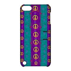 Peace Be With Us This Wonderful Year In True Love Apple Ipod Touch 5 Hardshell Case With Stand