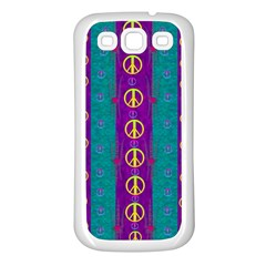 Peace Be With Us This Wonderful Year In True Love Samsung Galaxy S3 Back Case (white)