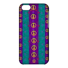 Peace Be With Us This Wonderful Year In True Love Apple Iphone 5c Hardshell Case by pepitasart