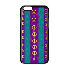 Peace Be With Us This Wonderful Year In True Love Apple Iphone 6/6s Black Enamel Case