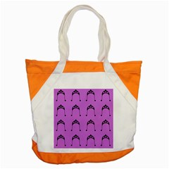 Violet Flower Hat Accent Tote Bag