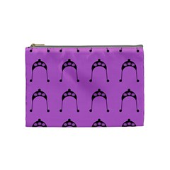 Violet Flower Hat Cosmetic Bag (medium)  by snowwhitegirl