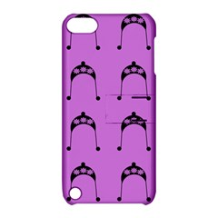 Violet Flower Hat Apple Ipod Touch 5 Hardshell Case With Stand by snowwhitegirl