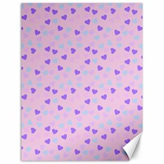 Blue Pink Hearts Canvas 12  X 16   by snowwhitegirl