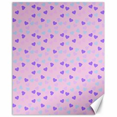 Blue Pink Hearts Canvas 16  X 20