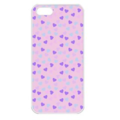 Blue Pink Hearts Apple Iphone 5 Seamless Case (white) by snowwhitegirl