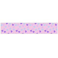 Blue Pink Hearts Large Flano Scarf  by snowwhitegirl