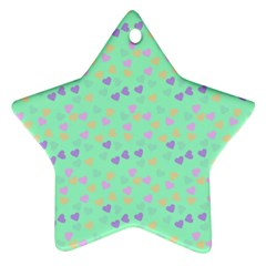 Minty Hearts Star Ornament (two Sides) by snowwhitegirl