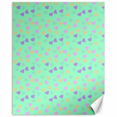 Minty Hearts Canvas 16  X 20   by snowwhitegirl