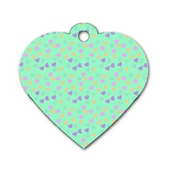 Minty Hearts Dog Tag Heart (two Sides) by snowwhitegirl