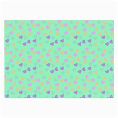 Minty Hearts Large Glasses Cloth by snowwhitegirl