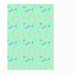 Minty Hearts Large Garden Flag (two Sides) by snowwhitegirl