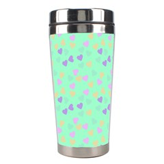 Minty Hearts Stainless Steel Travel Tumblers by snowwhitegirl