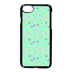 Minty Hearts Apple Iphone 8 Seamless Case (black)