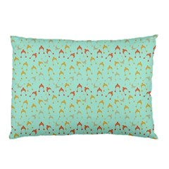 Blue Orange Hats Pillow Case by snowwhitegirl