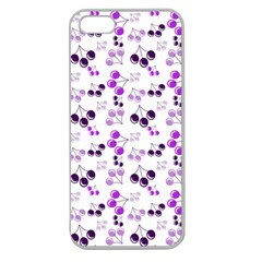 Purple Cherries Apple Seamless Iphone 5 Case (clear) by snowwhitegirl