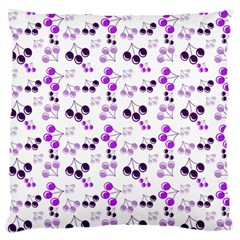 Purple Cherries Large Flano Cushion Case (one Side) by snowwhitegirl