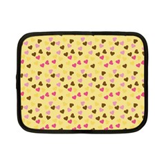 Beige Hearts Netbook Case (small)
