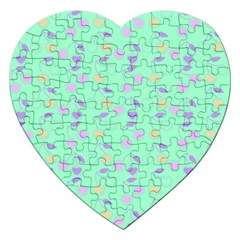 Mint Heart Cherries Jigsaw Puzzle (heart) by snowwhitegirl