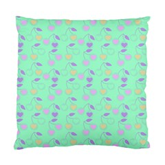 Mint Heart Cherries Standard Cushion Case (two Sides) by snowwhitegirl