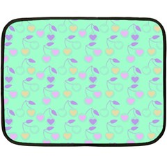 Mint Heart Cherries Double Sided Fleece Blanket (mini)  by snowwhitegirl