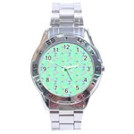 Mint Heart Cherries Stainless Steel Analogue Watch Front