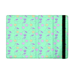 Mint Heart Cherries Apple Ipad Mini Flip Case by snowwhitegirl