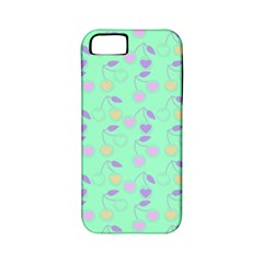 Mint Heart Cherries Apple Iphone 5 Classic Hardshell Case (pc+silicone) by snowwhitegirl