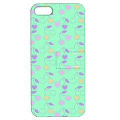 Mint Heart Cherries Apple Iphone 5 Hardshell Case With Stand by snowwhitegirl