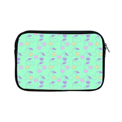 Mint Heart Cherries Apple Ipad Mini Zipper Cases by snowwhitegirl