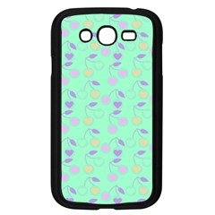 Mint Heart Cherries Samsung Galaxy Grand Duos I9082 Case (black) by snowwhitegirl