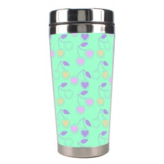 Mint Heart Cherries Stainless Steel Travel Tumblers by snowwhitegirl