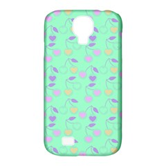 Mint Heart Cherries Samsung Galaxy S4 Classic Hardshell Case (pc+silicone) by snowwhitegirl