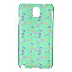 Mint Heart Cherries Samsung Galaxy Note 3 N9005 Hardshell Case by snowwhitegirl