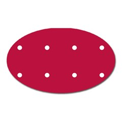 Red Dot Oval Magnet