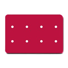 Red Dot Small Doormat  by snowwhitegirl