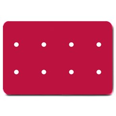 Red Dot Large Doormat