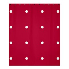 Red Dot Shower Curtain 60  X 72  (medium)  by snowwhitegirl