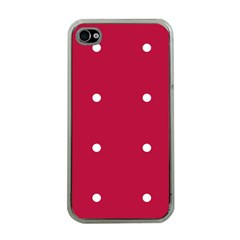 Red Dot Apple Iphone 4 Case (clear)