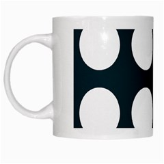 Big Dot Teal Blue White Mugs