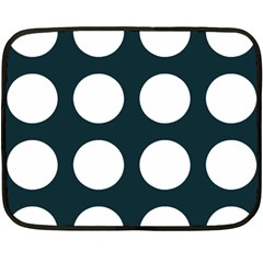 Big Dot Teal Blue Double Sided Fleece Blanket (mini)