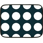 Big Dot Teal Blue Double Sided Fleece Blanket (Mini)  35 x27  Blanket Back