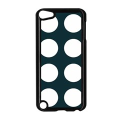 Big Dot Teal Blue Apple Ipod Touch 5 Case (black) by snowwhitegirl