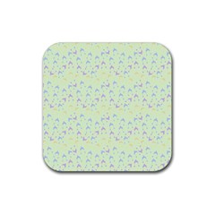 Minty Hats Rubber Coaster (square)